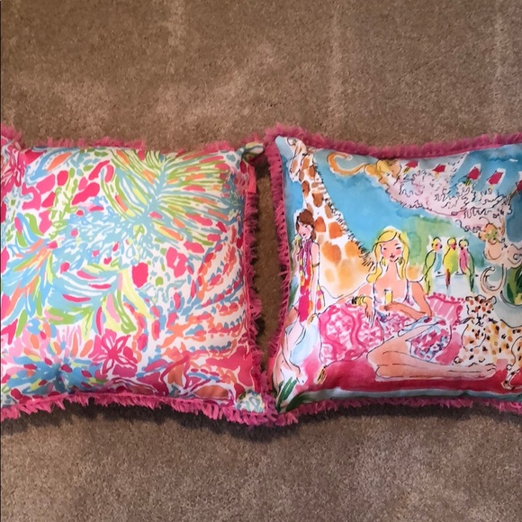Lilly Pulitzer Other 40 Decorative Pillows Poshmark Adorable Lilly Pulitzer Decorative Pillows